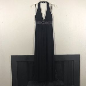 En Focus Black Halter V-Neck Maci Dress size 10